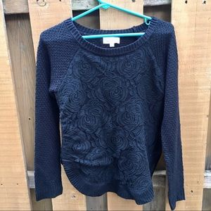 Anthropologie Cloud Chaser flower sweater small